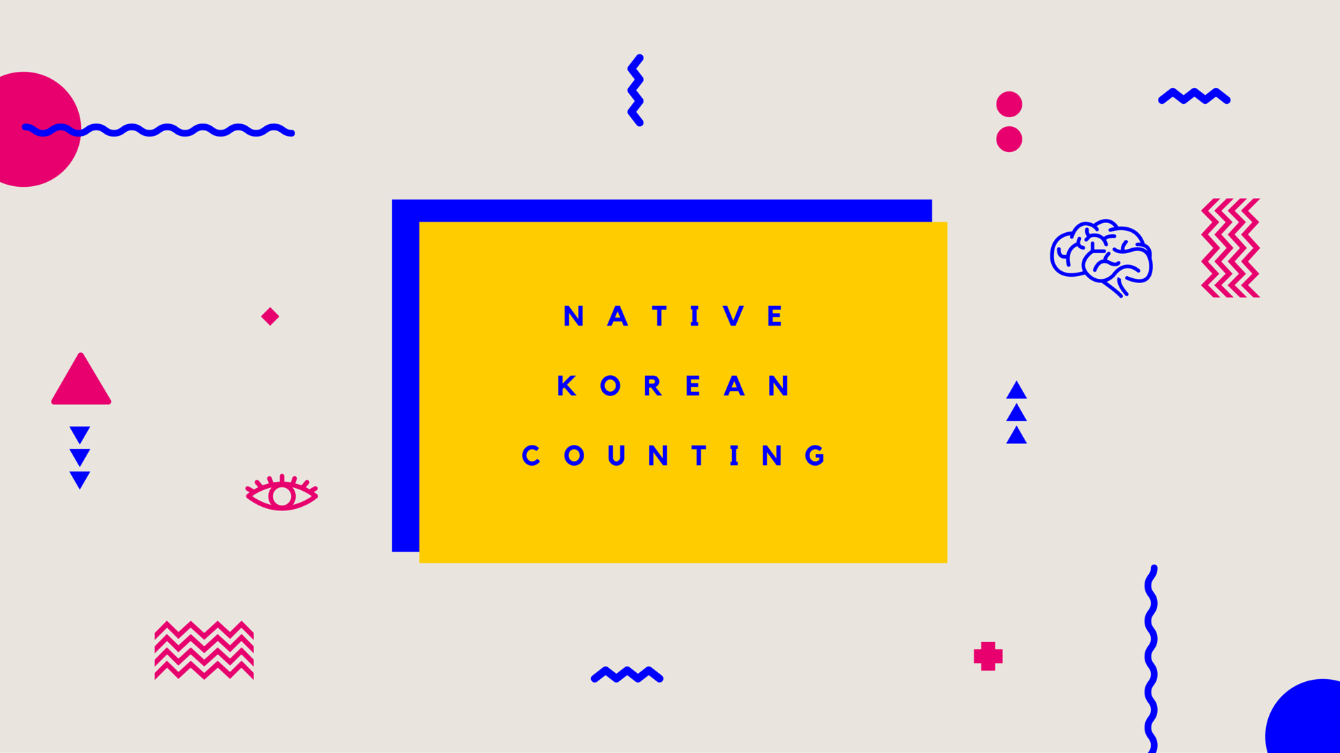 Counting in Korean - Native Korean Counting