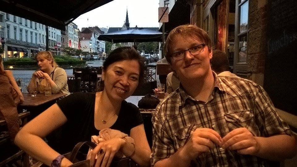 Drinking with Korean classmates in Brussels