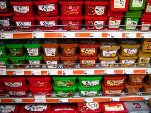 Korean Pastes on Shelves