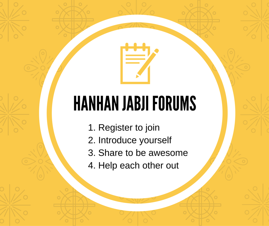 Hanhan Jabji Forums Registration