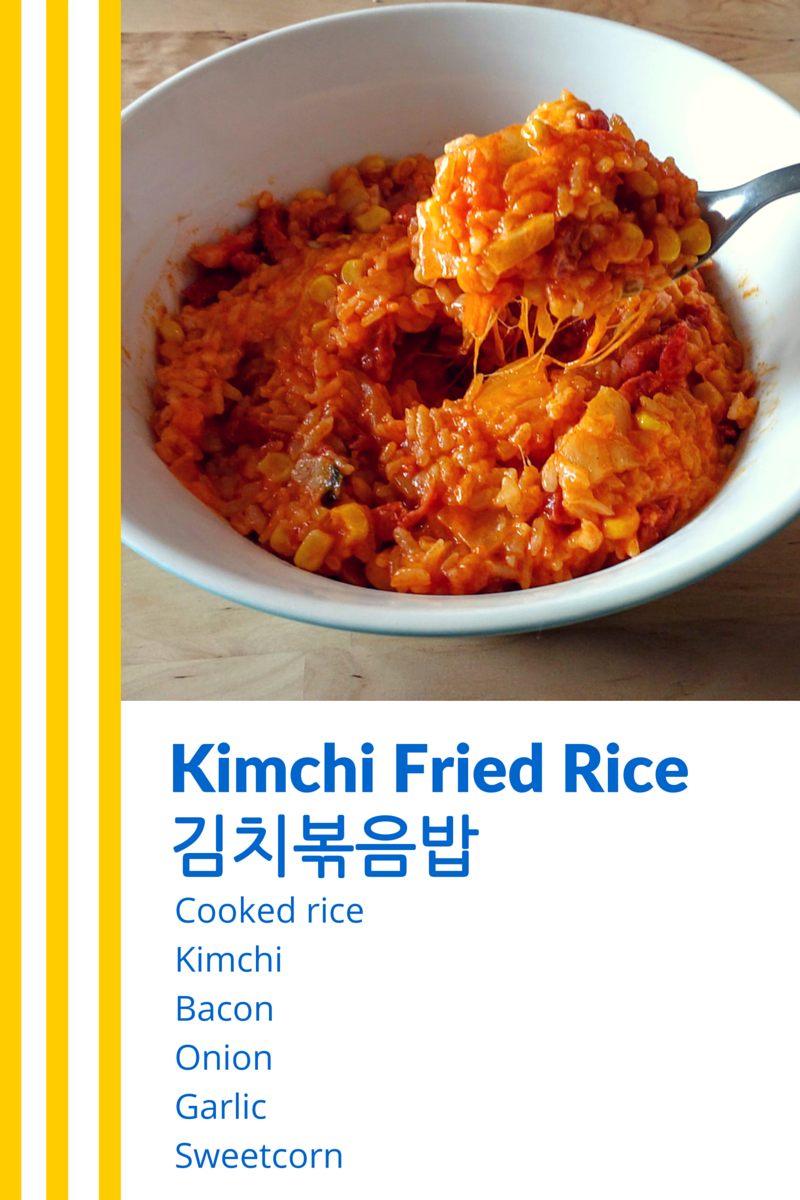 Kimchi Fried Rice Ingredient Chart