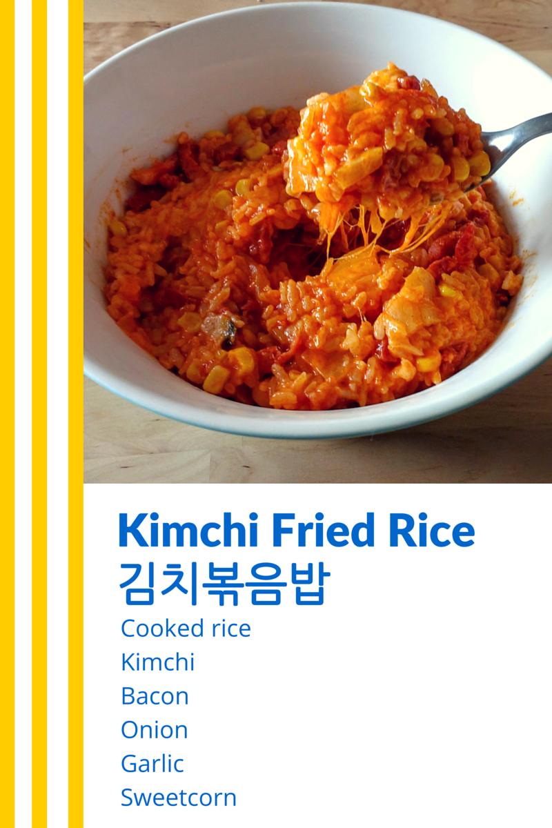Kimchi Fried Rice Ingredient Chart