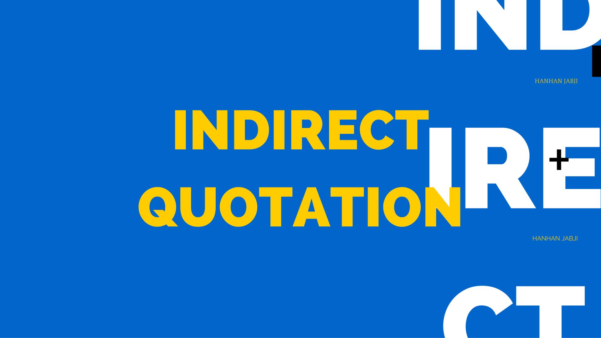 Indirect Quotation in Korean